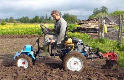 Трактор из мотоблока своими руками чертежи фото